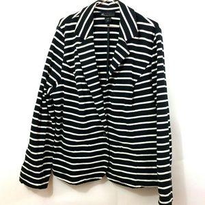 Lane Bryant Striped Black 1Button Blazer Jacket 20